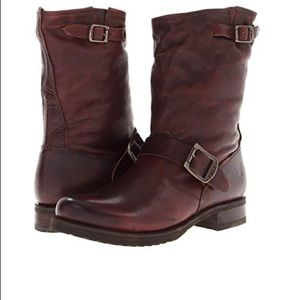 Frye Veronica Short Brown Boots